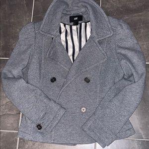 H&M short gray pea coat